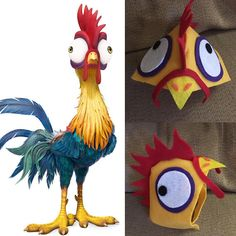 Hei hei the Rooster from Moana custom pet costume  Processing time (currently 7 days)  Order by October 20 and receive it by Halloween   Measurements needed: Around the neck in inches Back of neck to mid forehead in inches  Shipping: First Class 2-5 days