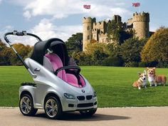 Is BMW vying for some royal attention with its limited edition pram? Well, let's find out if this one's more impressive than the Aston Martin baby strollers by Silver Cross