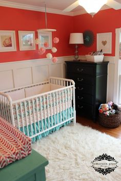 Pink and Turquoise Girls Nursery
