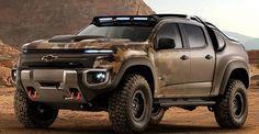 Chevrolet ABD Ordusu ile birlikte inşa yakıt hücresi ile çalışan Colorado ZH2 off-road kamyon ortaya koymuştur.