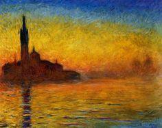 Claude Monet - Tramonto a Venezia (1908) Bridgestone Museum of Art Tokio