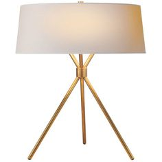 Williams-Sonoma Dawson Table Lamp, Antique Brass (=)
