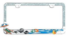 Vanity Beach License Plates and Frames – Beach Bliss Living - Decorating and Lifestyle Blog