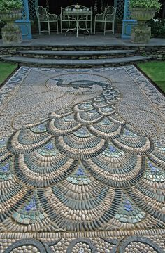Peacock mosaic 2, via Flickr.