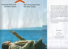 "How mobile banking can support a care-free lifestyle. (It basically says: ""I don't care what time my bank closes."")"