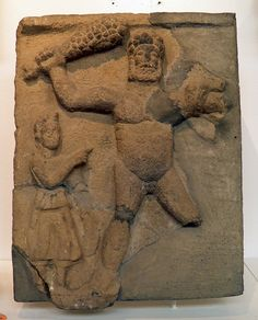 Relief of Hercules and the Lernean Hydra, Corbridge Museum  Roman Britain