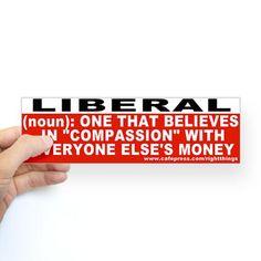 Liberal Definition Bumper Sticker
