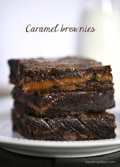 Chocolate fudge caramel brownies! Super fudgy and loaded with chocolate and caramel!