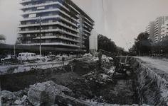 Obras en el cruce de las calles Eduardo Dato y Avenida de San Francisco Javier.    Vía ABC de Sevilla