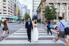 Toronto Wedding Photography Portraits on Bloor Street downtown