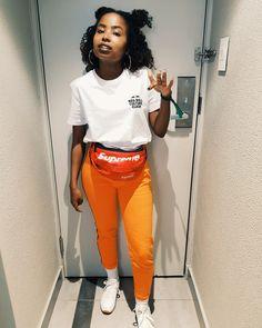 Orange trackpants