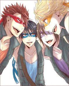 Teenage Mutant Ninja Turtles as anime characters