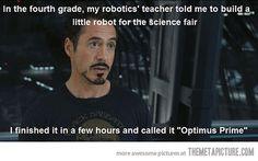 Ha. Iron man.