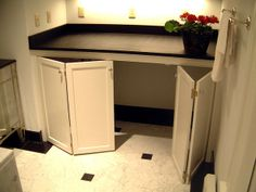 46 Ideas Folding Closet Doors Makeover Washer And Dryer Laundry In Kitchen, Laundry Nook, Laundry Cabinets, Laundry Room Remodel, Laundry Closet, Laundry Room Storage, Laundry Room Design, Laundry In Bathroom, Laundry Drying