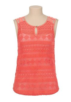 patterned lace tank (original price, $29) available at #Maurices