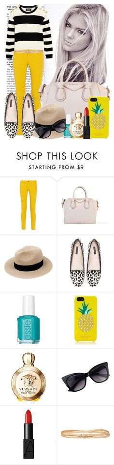 """Sometimes*"" by maryterojasf ❤ liked on Polyvore featuring M Missoni, Givenchy, Zara, Essie, Kate Spade, Versace, NARS Cosmetics, BCBGMAXAZRIA and Boutique Moschino"