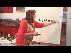 ▶ Painting with Acrylics Carole Foster - YouTube