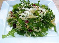 Orzo Salad_Orzo + Cranberry + Salt + Lemon Juice + Black Olives + Fresh Basil + (Pea)nuts + Rocket salad + Black Pepper + Feta Cheese