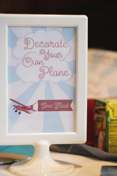 ADORABLE airplane birthday party if we ever have a son Im doing
