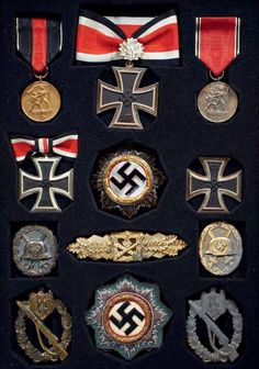 GERMAN MILITARY DECORATIONS OF WWII.                                                                                                                                                                               More