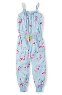 AACCKKKK!!!! A FLAMINGO ROMPER!!!! MG     Mini Boden 'Summer Playsuit' Print Romper (Toddler Girls, Little Girls & Big Girls) available at #Nordstrom