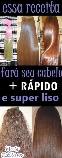 Essa receita vai fazer seu cabelo crescer mais rápido e mais liso. Rose Hair Color, Beauty Care, Hair Beauty, Spa Treatments, Brunette Hair, Grow Hair, Hair Hacks, Health And Beauty, Natural Hair Styles