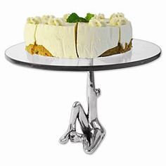 Let them eat cake...  CaRRoL BoYeS CAKE STAND W.GLASS TOP-HVE Y