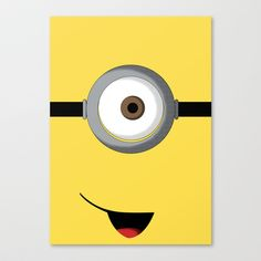 Minion Stretched Canvas by Bearded Manatee - $85.00