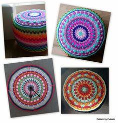 Pukado By Patricia Stuart: Mandala by Pukado - Free Pattern - Ottoman cover