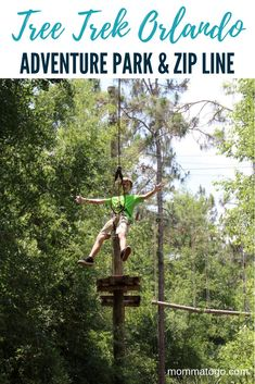 Orlando Tree Trek: Florida's Family Treetop Adventure Park | Things to do in Orlando | Orlando Vacation | Florida Vacation | Florida Travel #Florida #Orlando #Zipline #AdventurePark #Kissimmee #FamilyTravel #Travel