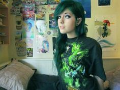 This is the colour green I want my hair. c: