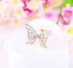 Yasurs™ 2014 New Arrived Fashion Elegant Drill Full Rhineston Hollow Out Butterfly Ring. http://www.yasurs.com/yasurstm-2014-new-arrived-fashion-elegant-drill-full-rhineston-hollow-out-butterfly-ring-66r704.html #jewelry