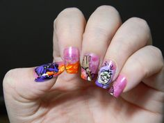 O my gosh I just love this nail art that this person did it . Sword in the stone is my favorite