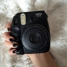 aesthetic, alternative, black, camera, dark, feed, fur, girl, grunge, indie, long, nails, pale, photography, polaroid, pretty, tumblr, white