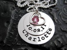 Hand Stamped Personalized Mommy Necklace by BragAboutIt