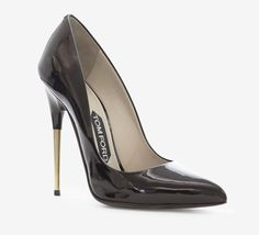 Tom Ford Black And Silver Pump