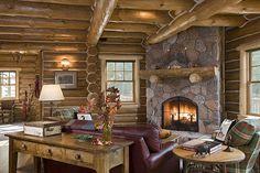 Log Home interior, Michigan's Upper Peninsula