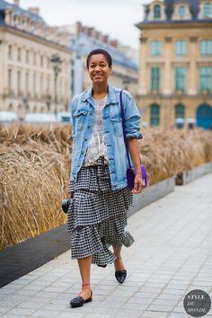 Tamu McPherson Street Style Street Fashion Streetsnaps by STYLEDUMONDE Street…