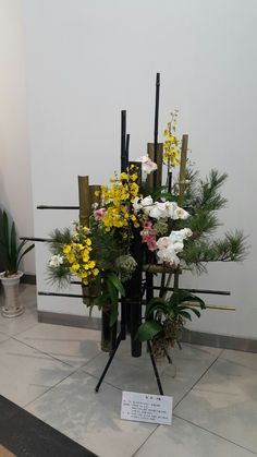 전례꽃연구회 제10회전시작품 Funeral Bouquet, Funeral Flowers, Candle Centerpieces, Candles, Floral Arrangements, Flower Arrangement, Altar Flowers, Flora Design, Flower Festival