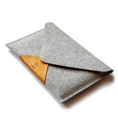 Merino Wool and Leather MacBook Air Sleeve - Inspired Father's Day Gifts Collection - Dot & Bo