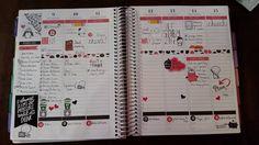 My #weekinreview. #plannerspread #plannercommunity