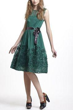 SOOOO pretty!  Caridad Ruffled Dress #anthropologie