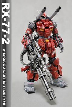 Tumblr: bonjour700:    模型プラモデル投稿コミュニティMG-モデラーズギャラリーガンプラAFVジオラマ - RX-77-2 ガンキャノンアバオアクー最終決戦仕様