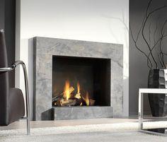 chimenea moderna (hogar cerrado a gas) LARGO Platonic Fireplace …