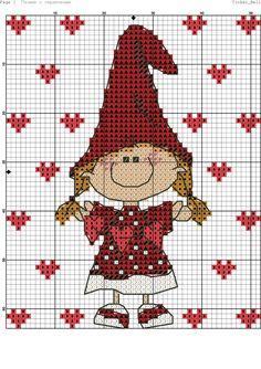 Lovely girl. Cross stitch.