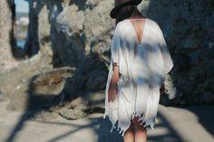 HAVA Beach Boho Kimono Tassel Turkish Towel by HandloomStore