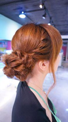 fishtail up do bun ruler hair dressing japan makoto ishii