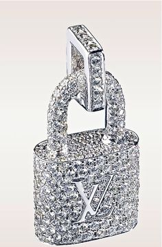 Louis Vuitton diamond padlock pendant. Beautiful