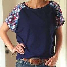 Was it all summer? I hope not ! Finally, here … – Schnittmuster – Clothing Hacks Hand Painted Dress, Sewing Blouses, Diy Kleidung, Berlin Fashion, Refashioning, Clothing Hacks, Diy Shirt, Cycling Outfit, Apparel Design