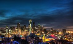 Seattle at Sunrise - Dmitrii Lezine